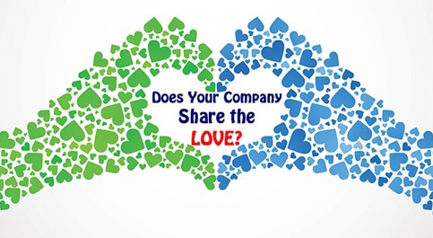 Does your Company Share the Love - Heart Hands